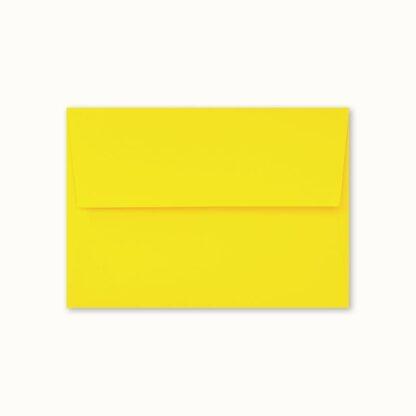 Gelbes Couvert für kleine Karten