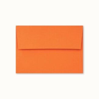 Oranges Couvert für kleine Karten