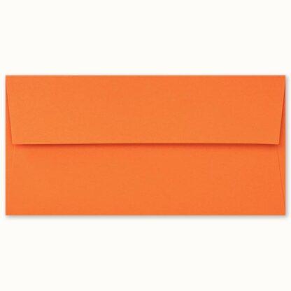 Oranges Couvert für lange Karten