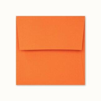 Oranges Couvert für quadratische Karten