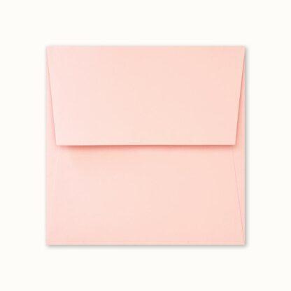 Rosa Couvert für quadratische Karten