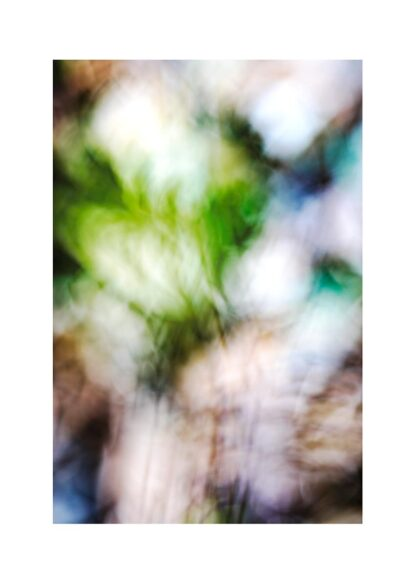 Abstraktes Bild mit Grün, Braun und Blau